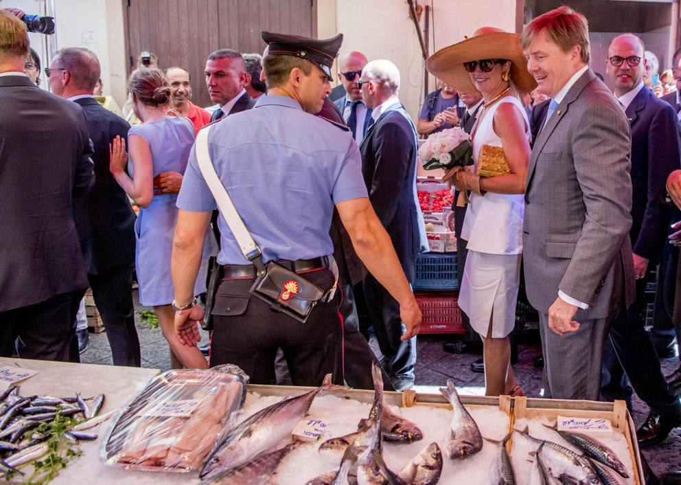 I reali d'Olanda in visita a Palermo (con tappa alla ...