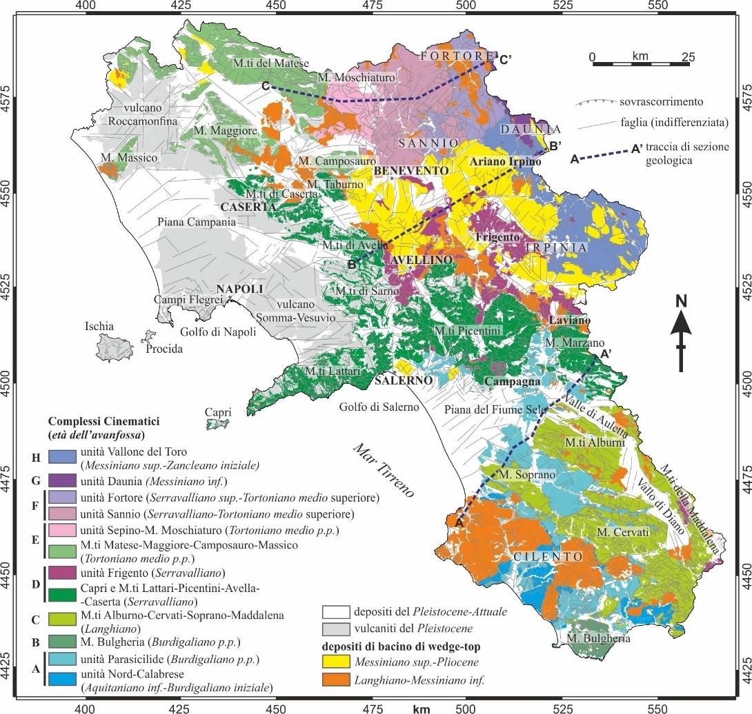 Cartina Fisica Della Regione Campania.I Geologi Campani Presentano La Carta Geologica Regionale Corrieredelmezzogiorno It