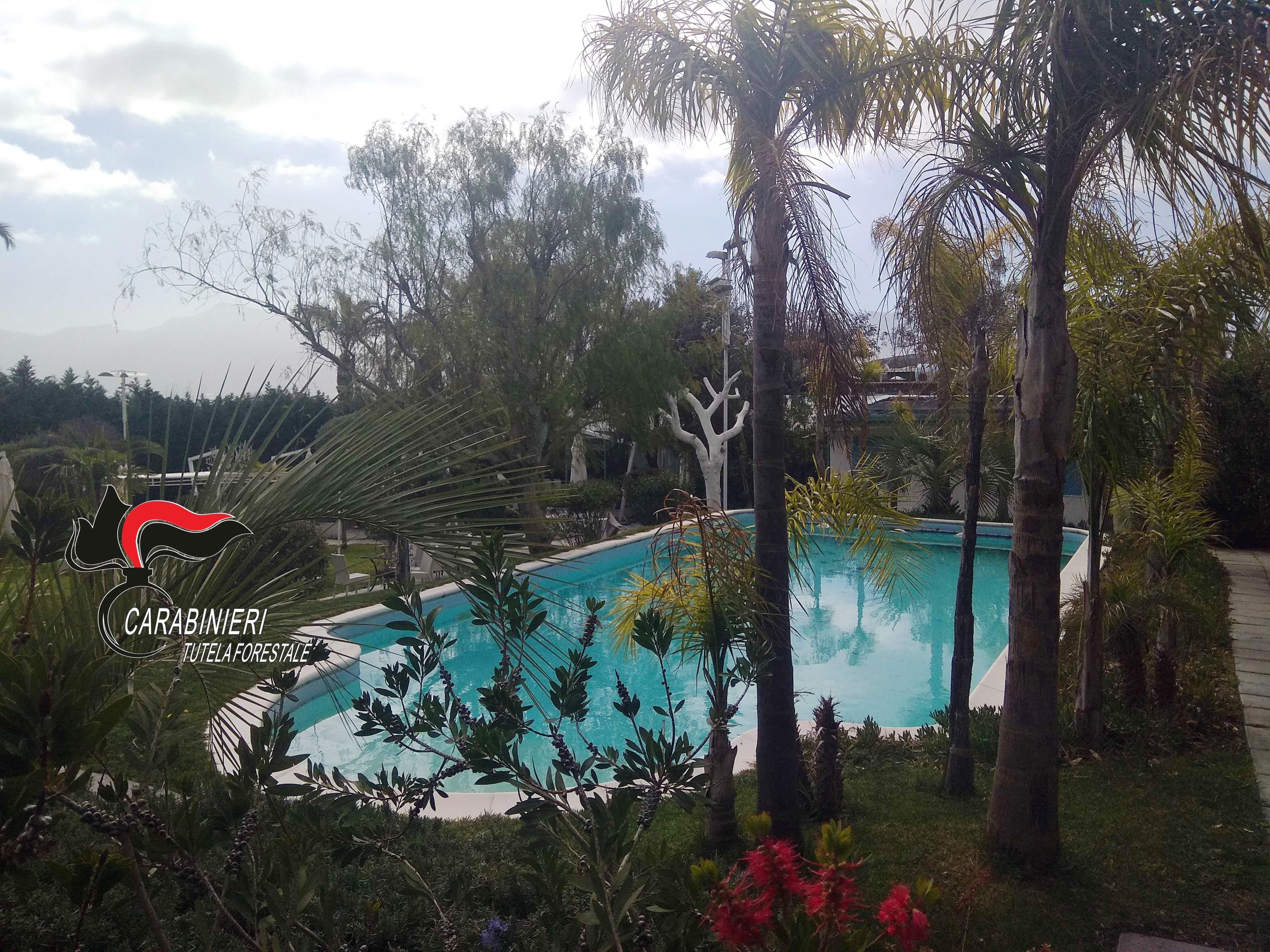 Piscina A Torre Del Greco ville e piscine abusive al vesuvio, blitz dei carabinieri