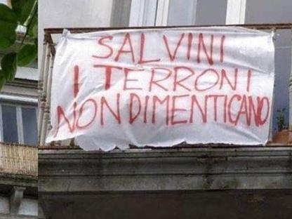 save off 2390e 5bd06 Salvini, è «protesta dei balconi»  tanti «striscioni per la libertà»