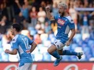 Napoli-Samp, azzurri in vantaggio con Mertens: 1-0
